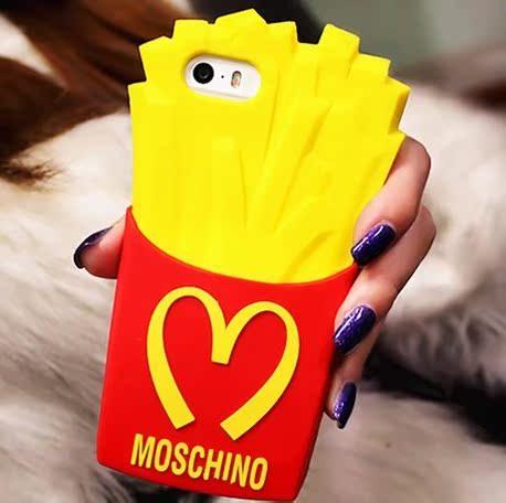 Apple чехол Moschino Макдоналдс картофель iphone5s мобильные телефоны Apple 5C силиконовые защиты рукав случае 4S