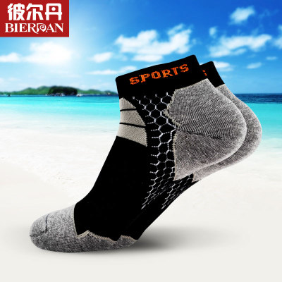Buy three pairs free shipping spring and summer men's sports short tube socks Bier Dan holes male deodorant socks Gift Box