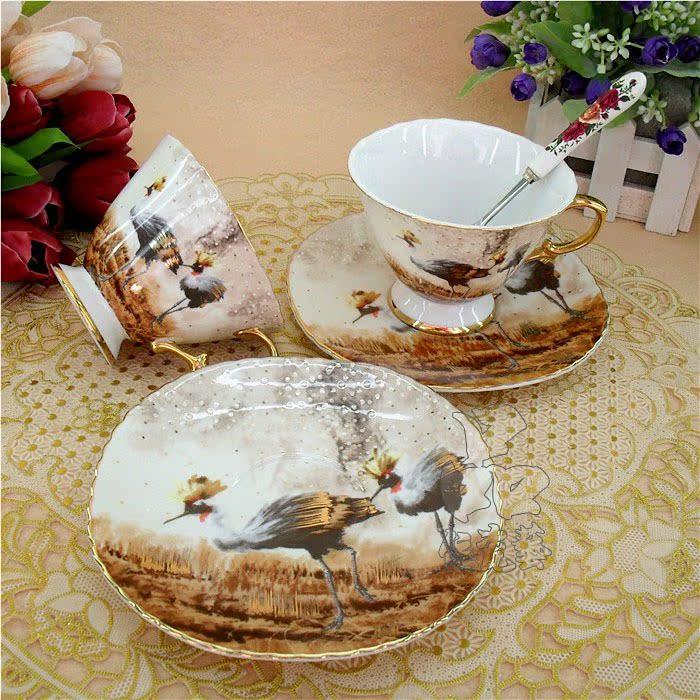 专柜正品 咖啡具套装 骨质瓷珐琅瓷 生日礼物创意 情侣对杯咖啡杯