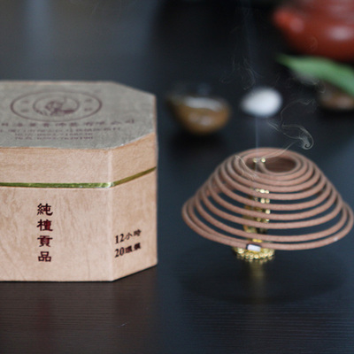 Natural India Laoshan sandalwood incense coil incense for Buddhist incense Buddha with supplies