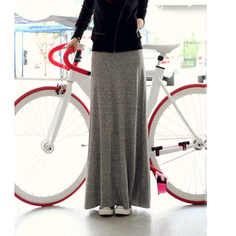 2014 Winter soft cotton thickened Maxi Dress HAN2 ban3 show thin all-match bag hip skirt winter skirt mopping the floor.