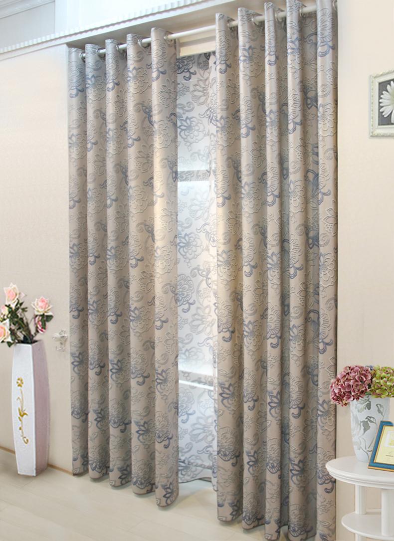 雷奇蒙 高档竹纤维窗帘布高精密客厅卧室现代中式遮光图片