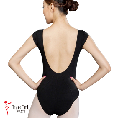 Dan poetry Ge dance clothes leotard ballet clothes and aerobics clothing after 2728 V-neck over the shoulder sleeve body suits