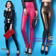 Spain tide brand beishka matte imitation leather pants big yards dumb light light dolphin skin tall waist leggings Package mail