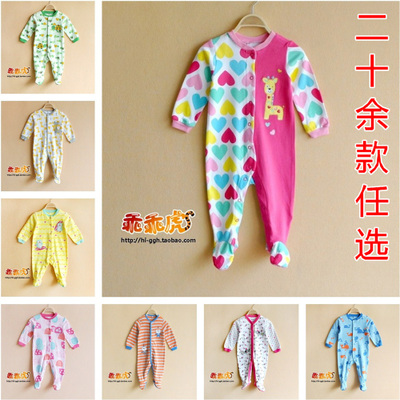 Foreign trade the original single stick cotton cloth embroidered bag feet baby wear jumpsuits ha clothing crawl suit chi