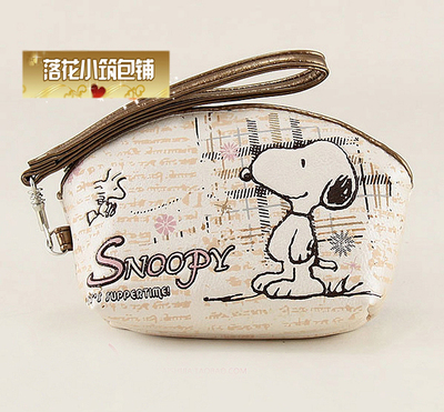 Snoopy authentic Korean female fan 4 inch phone bag purse coin bag lovely fresh short paragraph packet