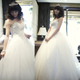 Luxury style special offer new bridal wedding dress fashion classic sweet Princess Qi natural top