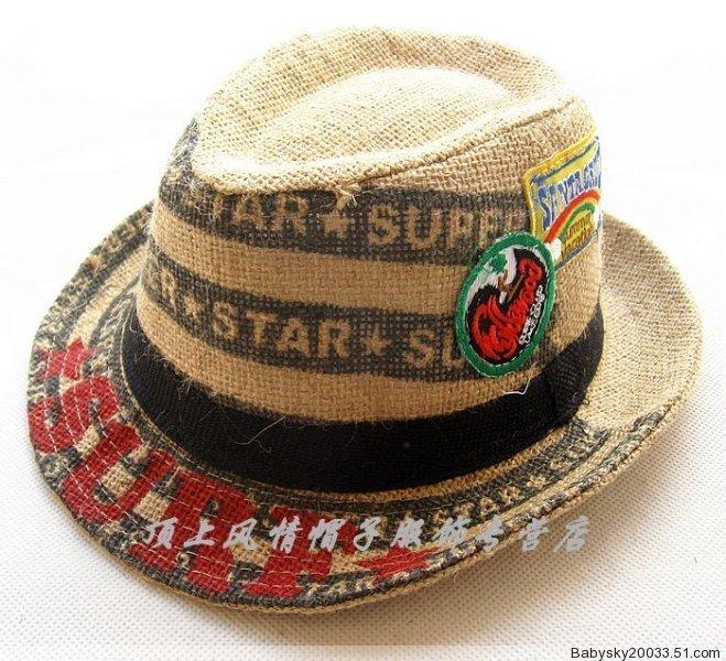 Головной убор Сямэнь внешней торговли оригинальный джаз общей анестезии в Детская шляпы Cap Hat магазин шляпы соломенные шляпы хип-хоп алфавит черный 52