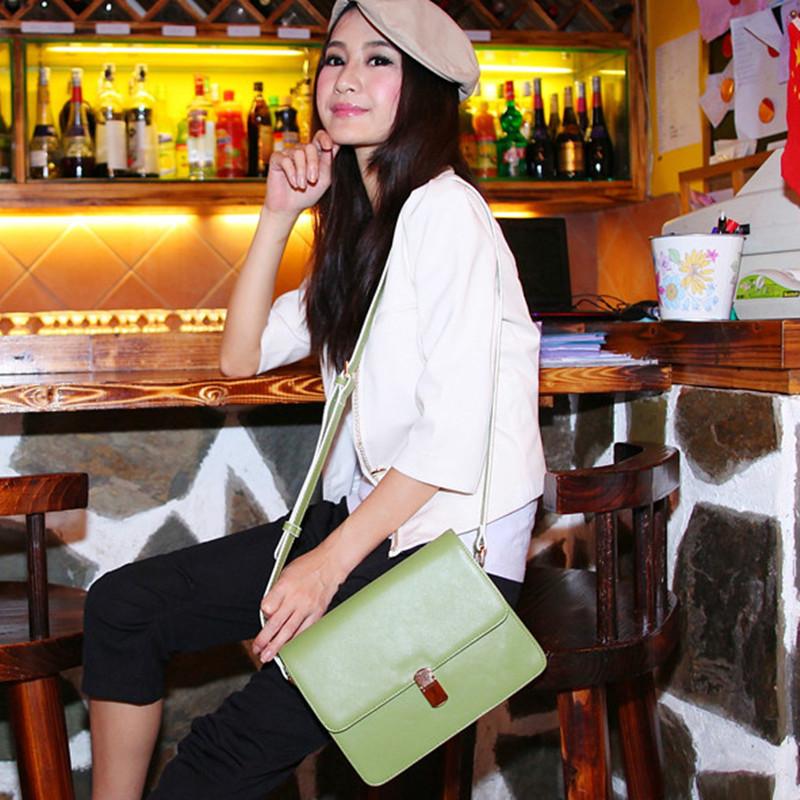 2014新款韩版复古单肩斜跨手提包牛皮邮差包包小包时尚休闲女包潮