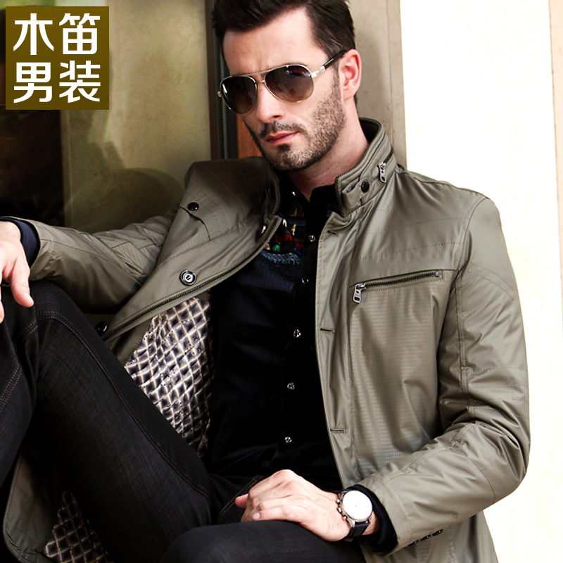 木笛中年男装春秋装新款男 夹克 男士外套 男 秋冬休闲夹克衫