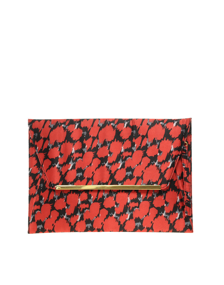 Сумка 208223 ASOS Leopard Print Laptop Case Клатч Другие материалы
