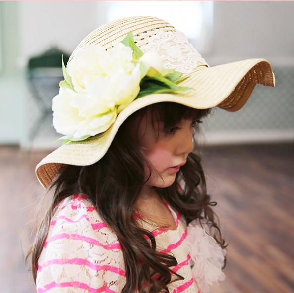Головной убор Спот/Корея импортированных аксессуары детские красивый ребенок Принцесса кружева цветы Ветер Hat ~ рекомендуется!