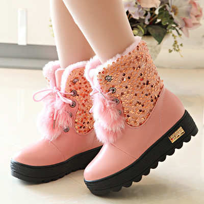 2014 new winter models big boy big plus velvet Martin boots leather boots women's shoes waterproof warm winter snow boots