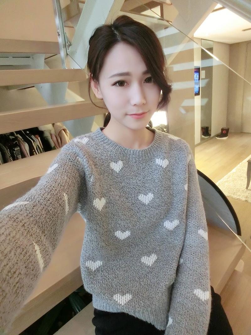 Свитер женский CASS владелец действительно делает корейской версии мягкой чистой t люблю вязания свитера Джокер x12