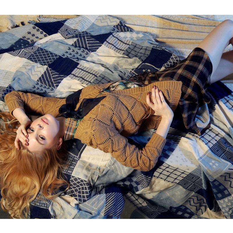 Свитер женский Elfsack 1229050 ELF SACK Акриловое волокно Осень 2012 Длинный рукав Классический рукав Закругленный вырез