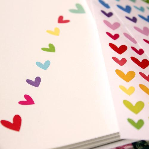 Наклейка Смешные Корейский цвет печать красочные Радуга звезд 9 любовь в 756 звезд