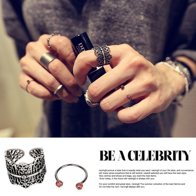 South Korea imported jewelry authentic Korean version of purchasing fashion jewelry retro metal finger ring ring suit women