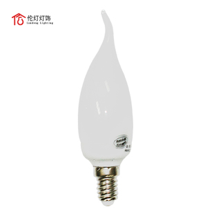 Light green energy saving bulb E14 candle lighting lamps/tail light bulb chandelier bulb 7W