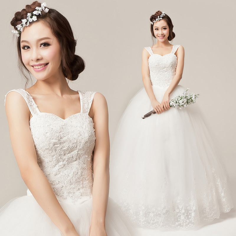 word sling wedding korean winter princess package shoulder wedding bride wedding dress 2012 new shoulder qi