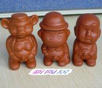 新陶居茶具紫砂茶宠 茶盘摆件撒尿喷水公仔 三款可选