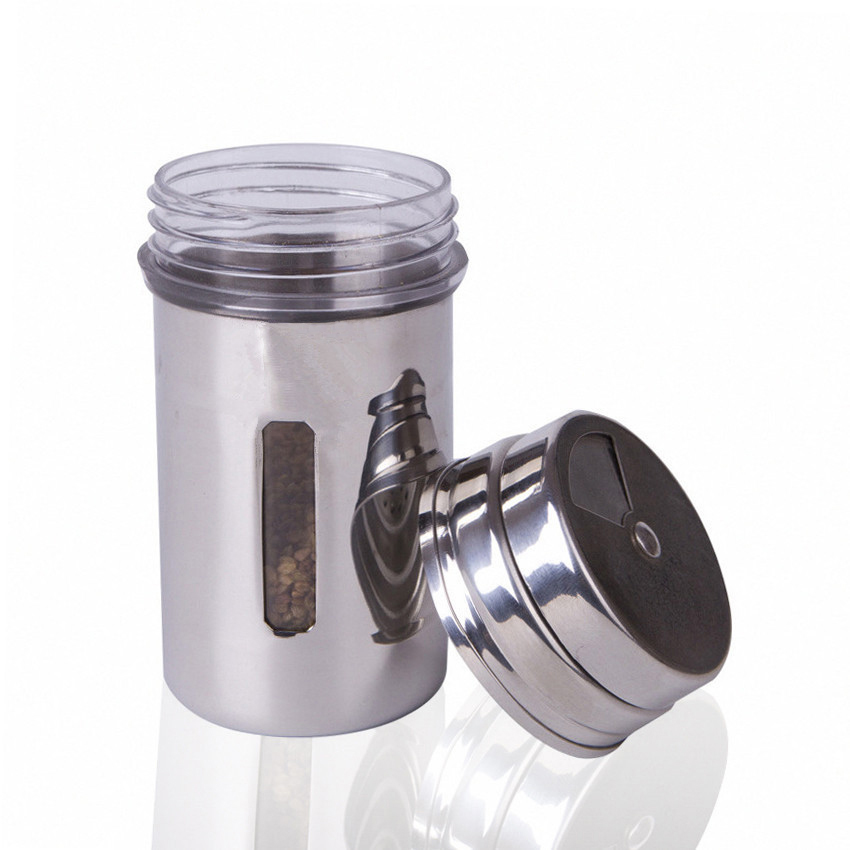 Stainless steel tube dusters dusting dusting of cocoa powder cans chili powder extinguishers cinnamon pepper shakers with pepper pot