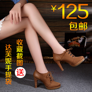 туфли Daphne 12 Тонкий каблук Мягкая кожа Верхний слой из воловьей кожи