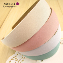 With 19 packages mailed 8522 han edition temperament hoop cloth art flannelette joker wide-brimmed hair hoop pure color hair