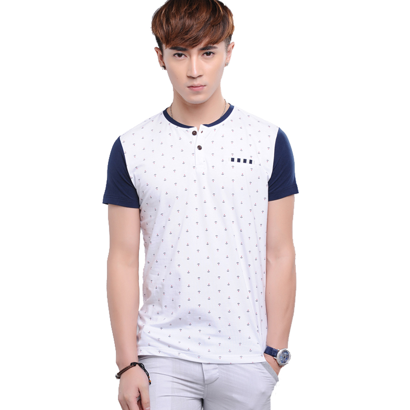 $18.36 2014 summer new men's short-sleeved cotton T-shirt ...