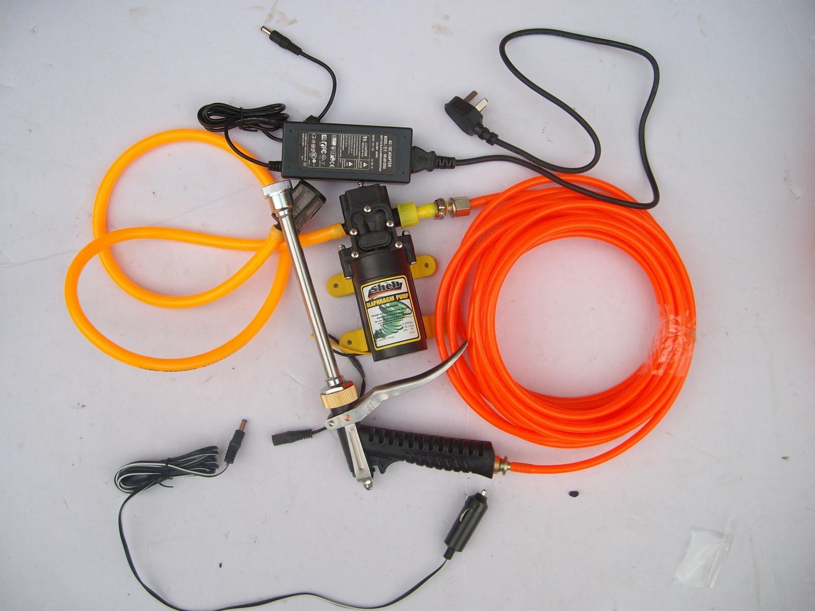 Автомойка Портативные бытовые в автомобиле 220V 12V высокого давления электрическая давления переключения кисти автомойка автомойка механического и электрического насоса