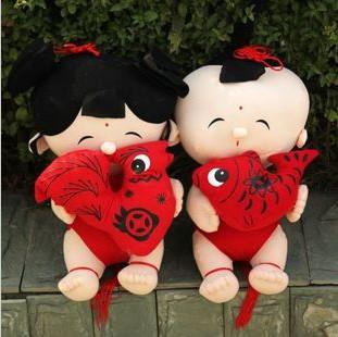 倾情奉献毛绒玩具 婚庆情侣娃娃/金童玉女特价48元一对 压床娃娃