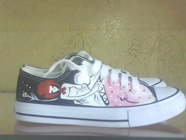 Женские кеды The boutique hand painted shoes