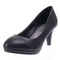Цикл белых воротничков рабочие платформы черные высокие каблуки небольшие круглые головы обуви