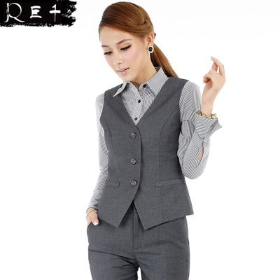Chiaki giant upscale dress suit vest female Spring OL Ms. Slim vest professional workwear vest 533