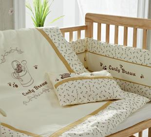 KUB six new Twill cotton baby bedding set gives baby a comfortable feeling surrounding