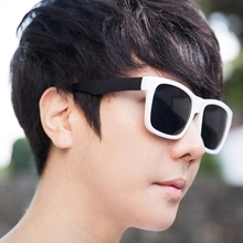 Japan and South Korea tide male fashion sunglasses website to verify direct mail Aboki big box white sunshade fashionable sunglasses