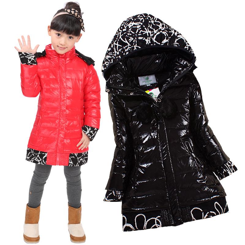 Пуховик детский Girls children down jacket x47 Girls children down jacket / glossy waterproof Повседневный стиль 90 белый утиный пух Закругленный вырез % Однотонный цвет