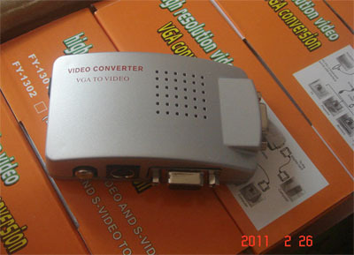 Computer go connect old TV VGA TV AV PC to TV video converter