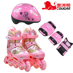 2012 upgrades Cougar children's adjustable roller skate roller skates roller skating shoes packaged MS707PS