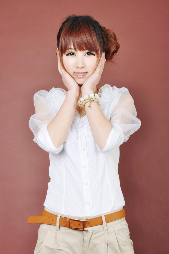 женская рубашка Etam ES Повседневный стиль Короткий рукав Однотонный цвет V-образный вырез