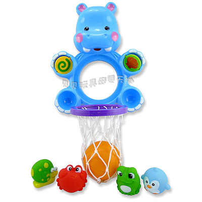 Water spray basketball shooting small animals toys baby bath toy swimming amphibious .55