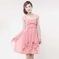 [限时促销]2013新款女装夏季波西米亚雪纺吊带裙荷叶边沙滩裙修身吊带连衣裙
