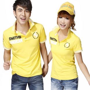 Футболка Любители лето 2012 Новый корейский пара t рубашка Корейский футболки с короткими рукавами летом горячей одежда Хлопок