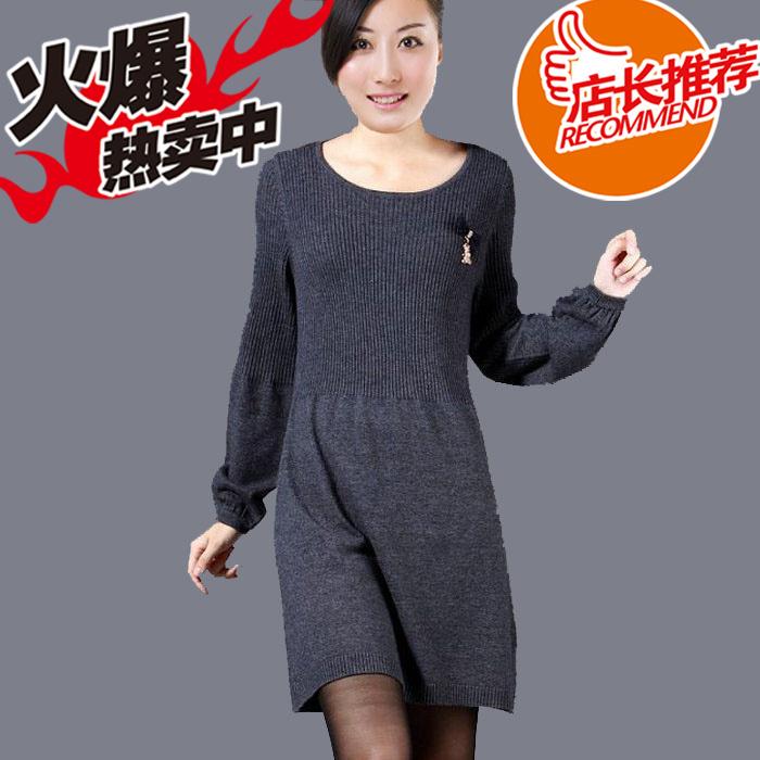 Свитер женский More brands 814 2012 кашемир длинный рукав классический рукав закругленный вырез