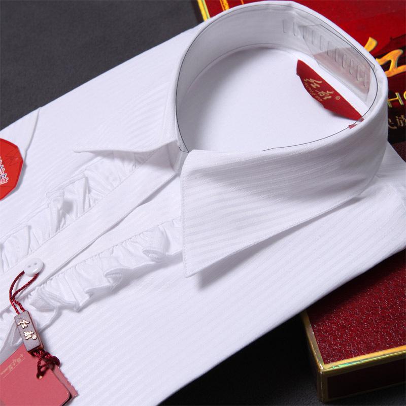 женская рубашка Red is HND3388 Casual Короткий рукав Другой дизайн Лето 2012 Оборка V-образный вырез Один ряд пуговиц