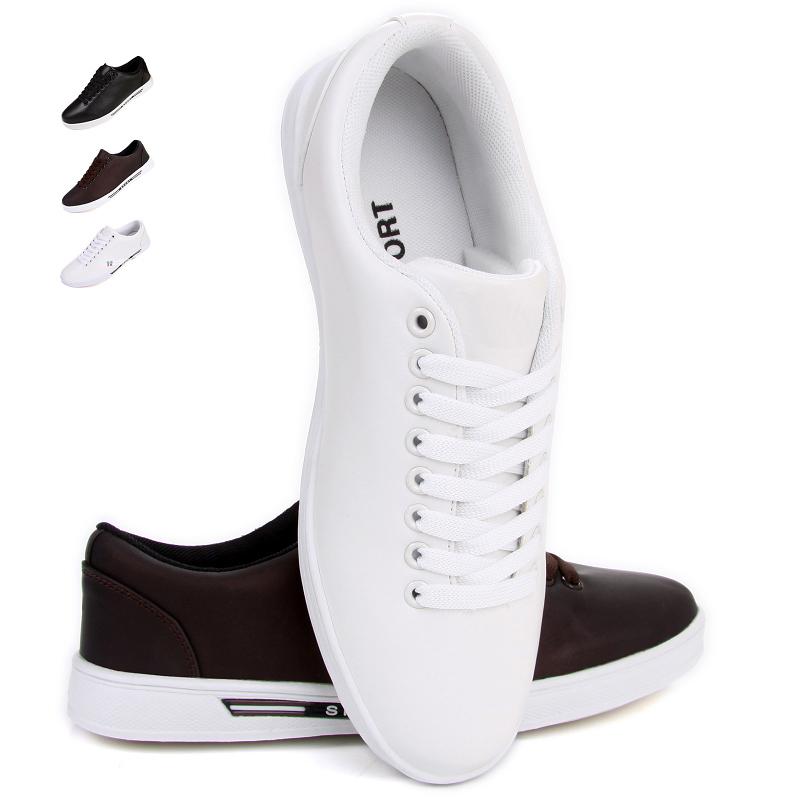 Демисезонные ботинки 1006 Обувь на тонкой подошве ( для скейтборда ) Спортивный Искусственная кожа Круглый носок Шнурок Весна и осень