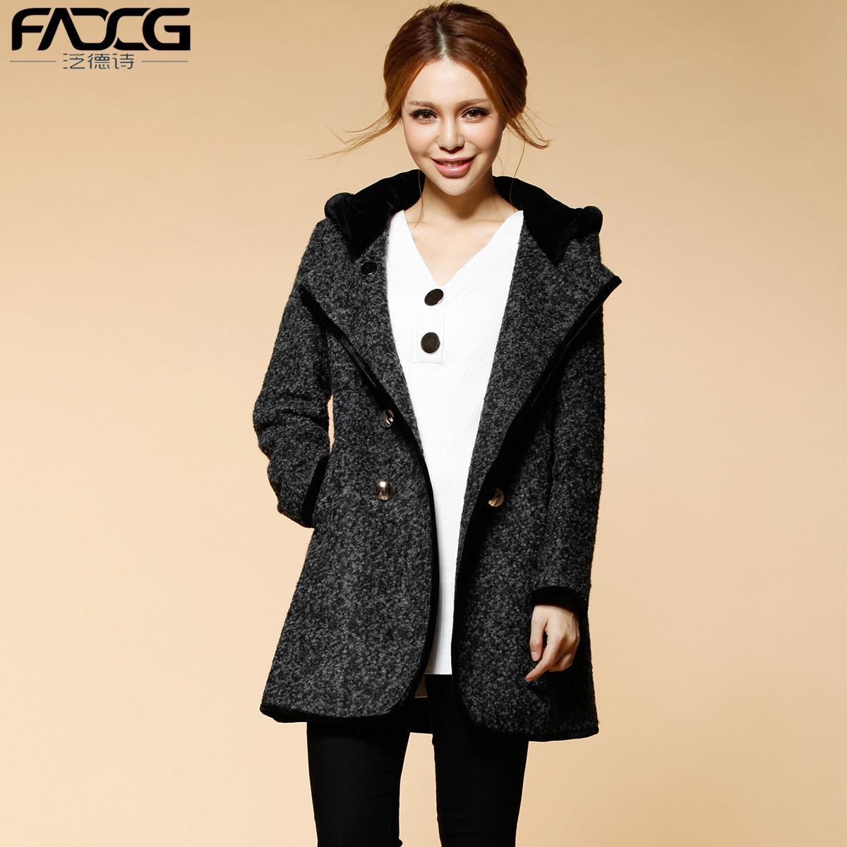 женское пальто Fadcg CN5002 2012 Зима 2012 Длинная модель (80 см<длина изделия ≤ 100 см) Fadcg / Pan-German poetry Длинный рукав Классический рукав