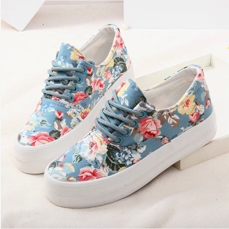 2014 Summer shallow mouth shoes to help low canvas shoes women casual shoes student shoes, flat shoes wild small floral shoes