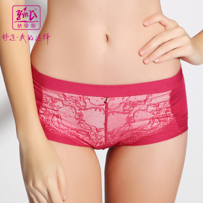 Red animal year 2015 according to Mary Modal Ms. waist boxer briefs comfortable lace underwear YL2128