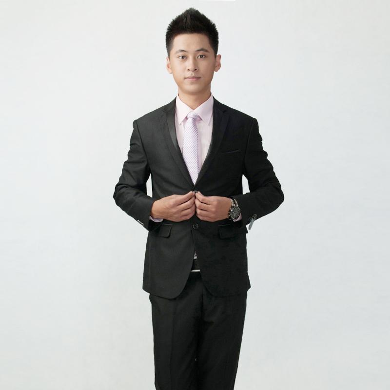 修身西装套装 男士西服 结婚 新郎 伴郎 礼服 商务 韩版小西装