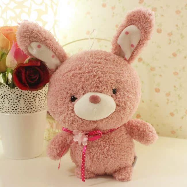 包邮情侣公仔玩偶可爱小迷宫正版泰迪熊qq兔qq熊毛绒玩具蓝白积木乐高丛林之娃娃兔子图片